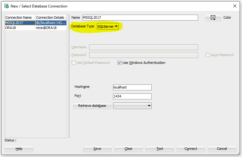 Connect to SQL Server with Oracle's SQL Developer